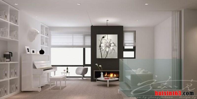 天鹅湾三居室-120平米-现代简约装修效果图
