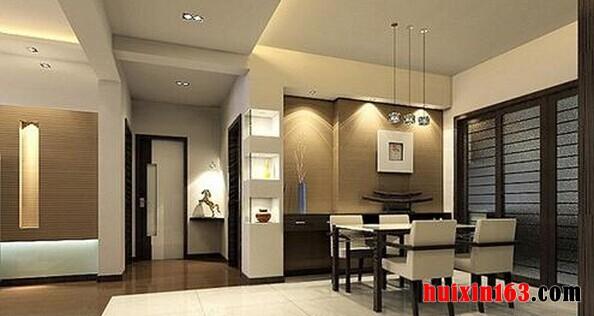 逸翠园三居室-150平米-现代简约装修效果图-餐厅一角