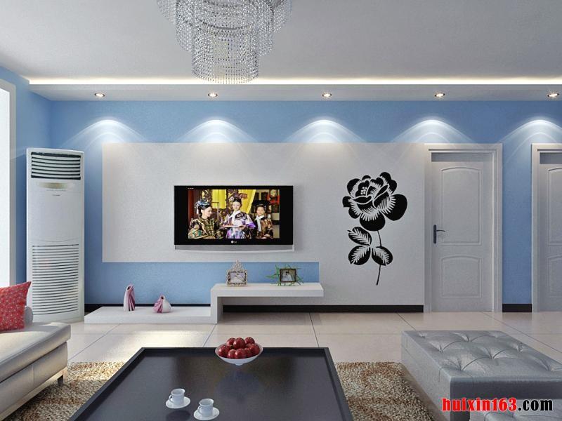 比如,流行蓝色时,简约风格的家庭装修装饰会使家具,灯饰等的色彩都