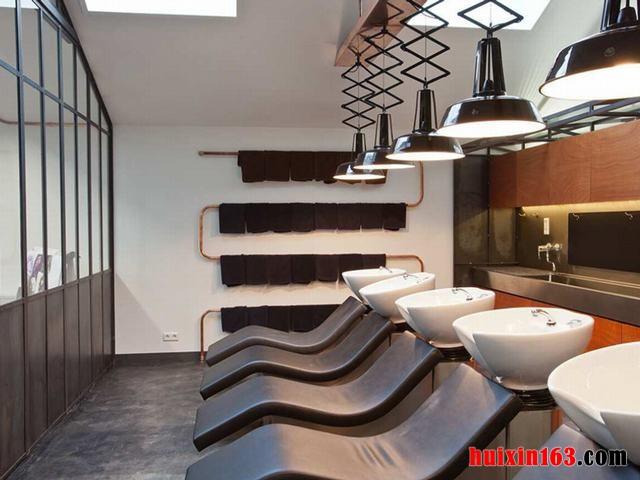 600平米美发店洗头区装修效果图