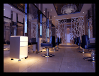280平米美发店龙8国际pt老虎机设计效果图 (2)