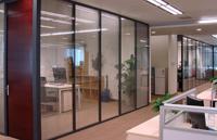 450平米写字楼玻璃隔断装修设计效果图 (4)