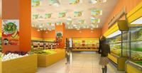 114平米水果店龙8国际pt老虎机设计效果图 (3)