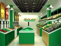 96平米水果店龙8国际pt老虎机设计效果图 (3)