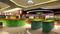 350平米水果店龙8国际pt老虎机设计效果图 (4)