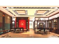 100平米茶叶店乐虎国际登陆设计效果图 (4)