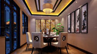 文峰宝邸中式古典型风格装修效果图 (4)
