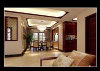 森泰公寓中式古典型风格装修效果图 (4)