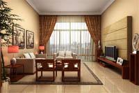 圣煌广场-193平米-四居室-中式古典风格装修效果图 (4)