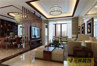海湾茗园-三居室-中式古典风格装修效果图 (4)
