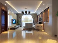 万泉城-130平米-三居室-欧美风格龙8国际pt老虎机效果图 (4)