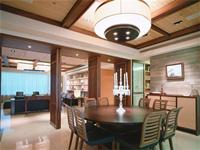 世茂香槟湖180平米四居室中式风格龙8国际pt老虎机效果图 (7)