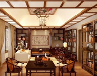 书房装饰中式风格乐虎国际登陆设计图 (29)
