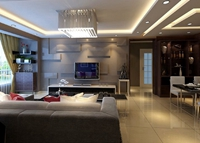 潭泽溪郡-96平米-二居室-现代简约风格装修效果图 (6)