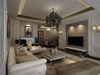 万盛理想国-150平米-四居室-欧美风情装修效果图 (6)
