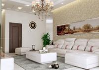 中海紫御观邸-100平米-二居室-现代简约风格龙8国际pt老虎机效果图 (5)