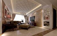 德意名居125平米三居室简欧风格装修效果图 (7)