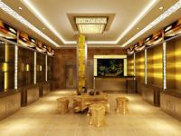 80平米茶叶店乐虎国际登陆设计效果图 (4)