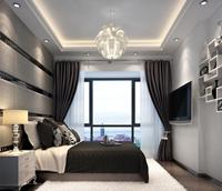 万科金色领域80平米二居室现代简约风格装修效果图 (5)
