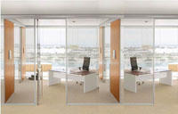 60平米玻璃隔断装修效果图 (6)