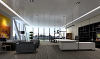 160平米总经理办公室装修效果图 (7)