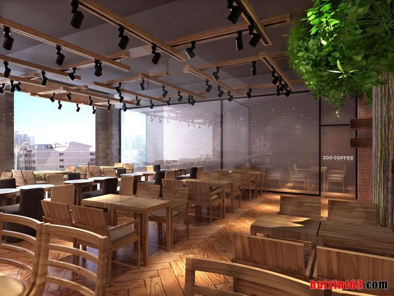 800平米咖啡厅装修设计效果图
