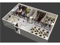 390平米办公室装修效果图 (4)