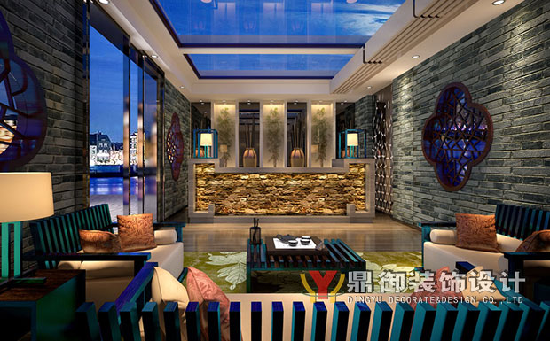 2600平米情侣宾馆龙8国际pt老虎机设计效果图 (7)
