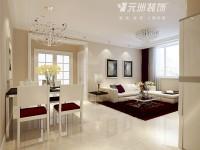 西花园小区-99平米三居室-现代简约装修效果图 (9)
