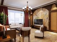 御锦源-129平米三居室-中式古典装修效果图 (5)
