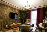金地国际公寓150平米三居室中式风格装修效果图 (7)
