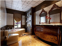 宝龙城市广场别墅—360平米—四居室—中式风格装修效果图 (9)