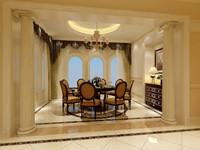 新湖香格里拉—268平米—六居室—欧美风情装修风格 (13)