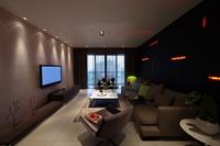 越秀花园-143平米-三居室-现代简约风格装修效果图 (9)