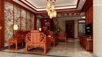翡翠欧庭-270平米-别墅-中式古典风格装修效果图 (5)