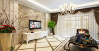 金湾华庭131平米三居室欧式风格龙8国际pt老虎机效果图 (5)