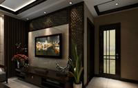 龙景佳园—110平米—三居室—新中式龙8国际pt老虎机效果图 (4)