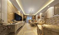 奥克斯盛世经典117平米三居室欧式风格装修效果图 (5)