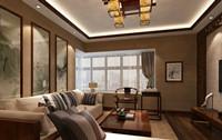 丰泉小区—108平米—两居室—新中式装修效果图 (5)
