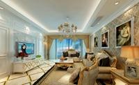 阳光新城-137平米-三居室-新古典主义风格装修效果图 (5)