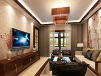 曙光小区—168平米—四居室—新中式龙8国际pt老虎机效果图 (5)