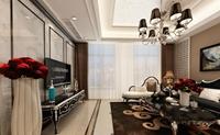 名嘉城-141平米-三居室-新古典主义风格装修效果图 (5)