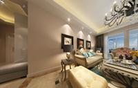东华里99平米三居室简欧风格 装修效果图 (5)