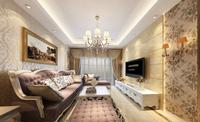 安泰家园91平米三居室欧式风格装修效果图 (7)