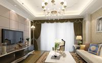 东海湾110平米三居室欧式家装效果图 (5)