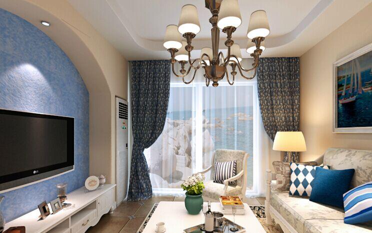 金丰小区-92平方米-二居室-地中海风格装修效果图 (5)
