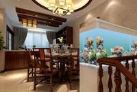 江南春城—260平米—四居室—新中式装修效果图 (4)
