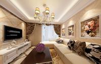 太极景润三居室85平米现代欧式风格龙8国际pt老虎机效果图 (4)