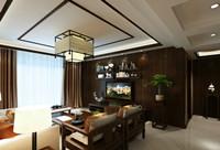上城骏园—165平米—四居室—新中式乐虎国际登陆效果图 (4)