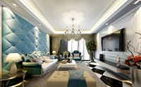 都市桃园-131平米-三居室-法式风格装修效果图 (5)